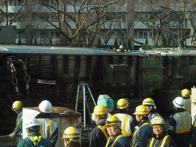 川崎駅脱線事故(2014-02-23)現場