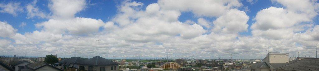 赤塚高台より