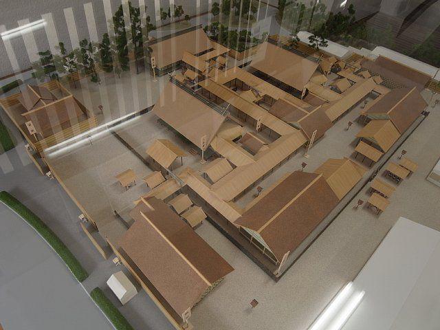大嘗宮の模型