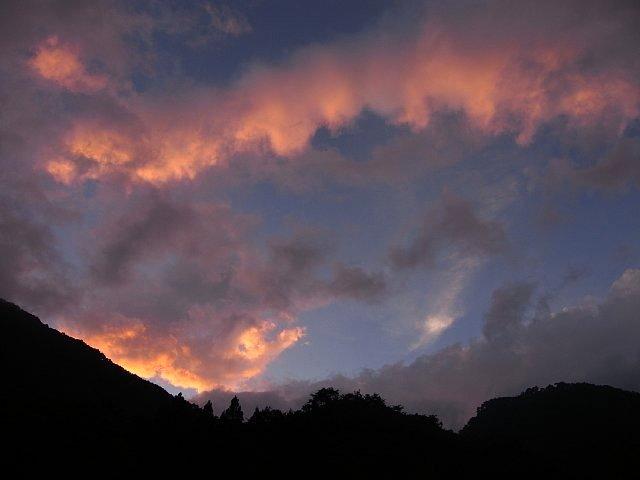 天滝渓谷の夕暮れ