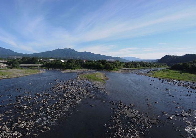 吾妻川(左)・利根川(右) 合流点