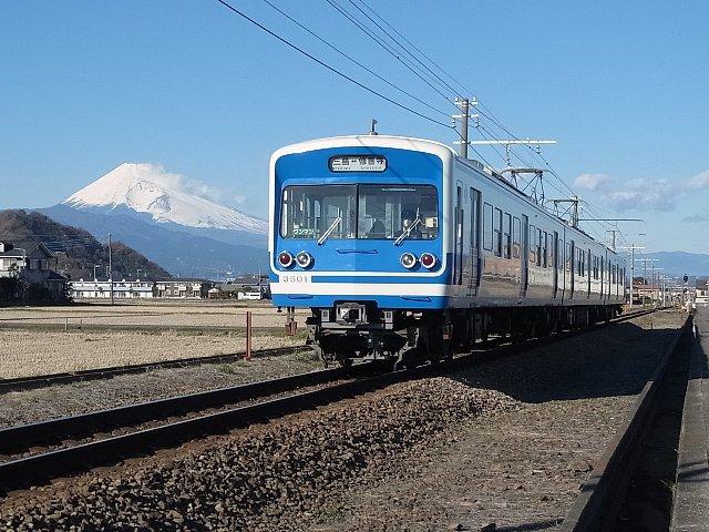 伊豆箱根鉄道と富士山