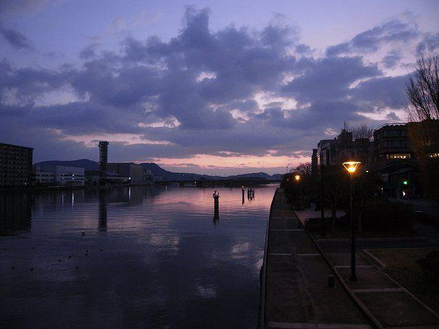 幻想的な松江の朝
