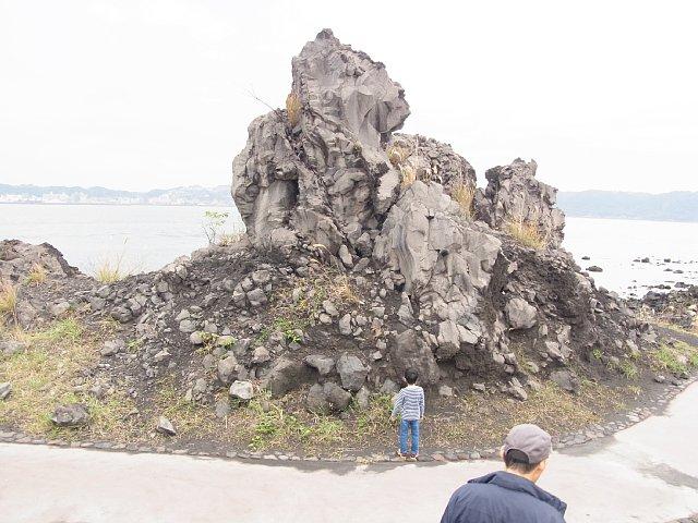 桜島溶岩奇岩