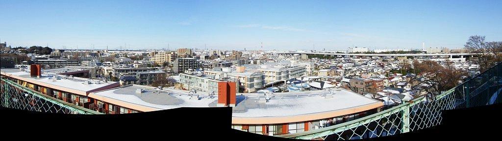 2014 年の大雪 翌日の板橋区から埼玉方面