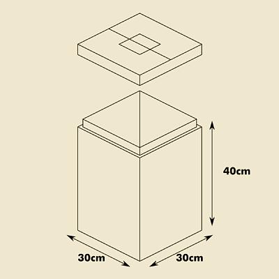 自作ゴミ箱 寸法
