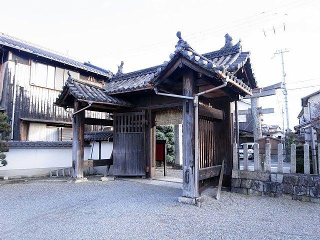 膳所城 移築 犬走り門 (若宮八幡宮)