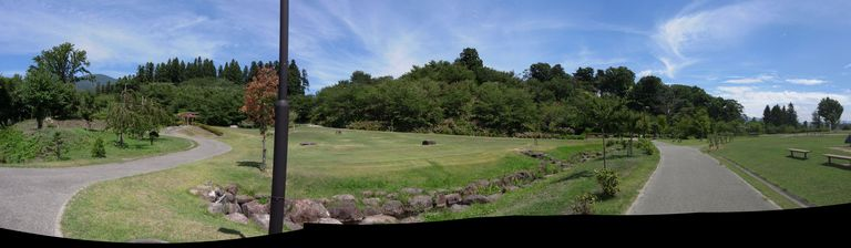 猪苗代城 城の南側