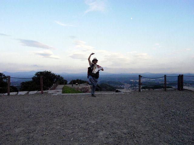 二本松城 祈念のシェー