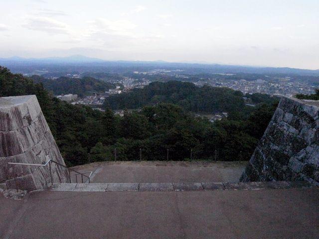 二本松城 本丸からの眺望