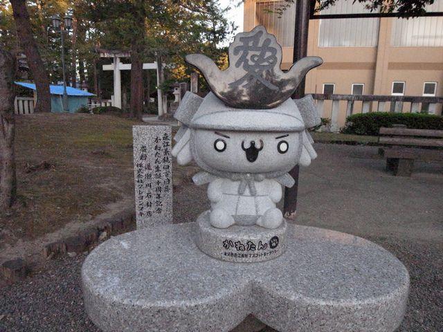 米沢城 直江兼続像