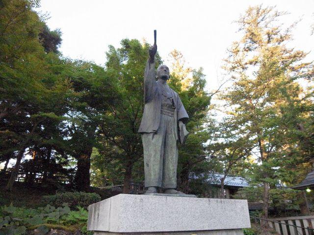 米沢城 上杉鷹山像