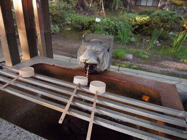 米沢城 手水舎