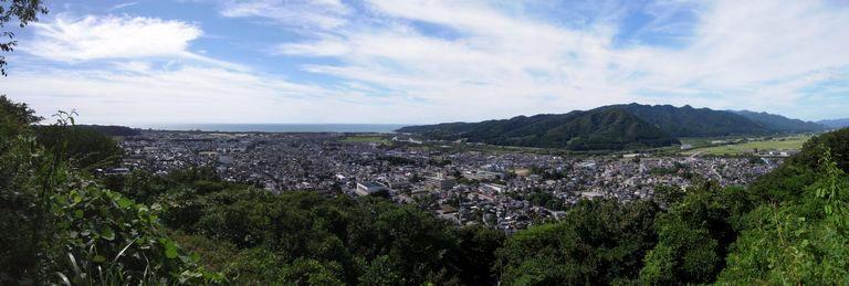 越後村上城 城下眺望