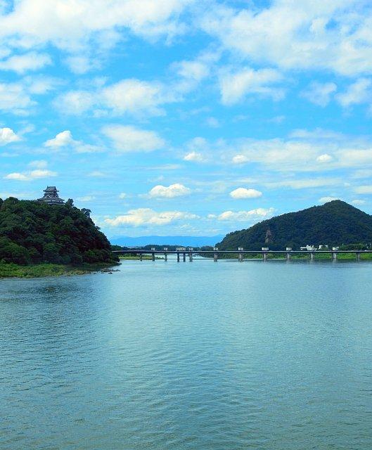 犬山城 犬山橋より 2017 年 8 月
