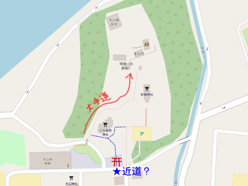 犬山城 地図 powered by OSM