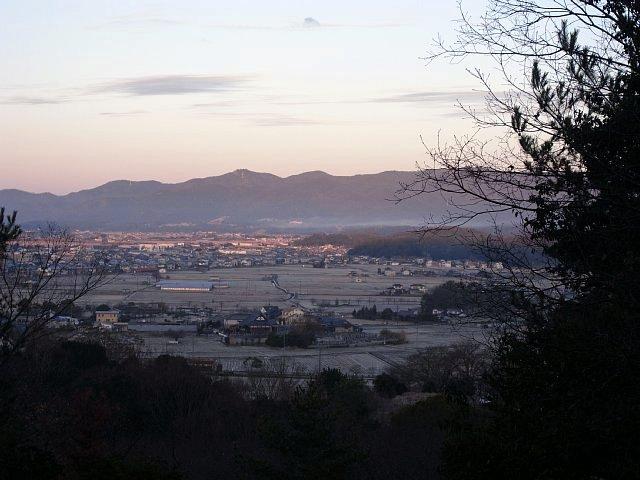 秀吉本陣から見た備中高松城