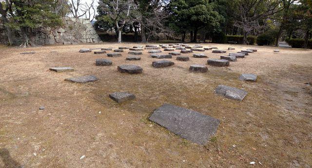 広島城 天守礎石(移設)