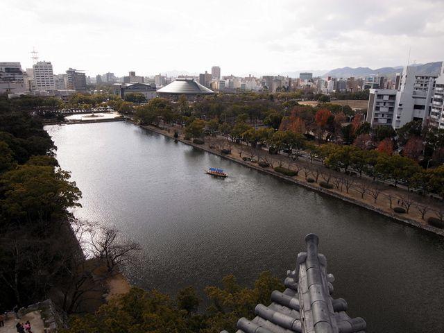 広島城 天守最上階からの眺め