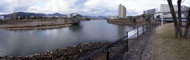 太田川・京橋川分流点