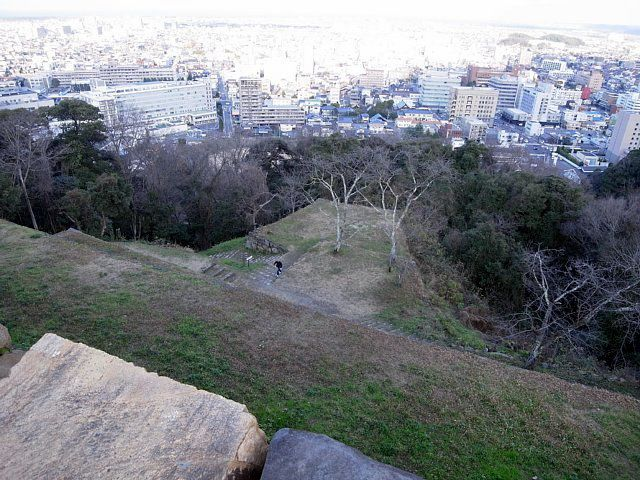 米子城 本丸からの眺め