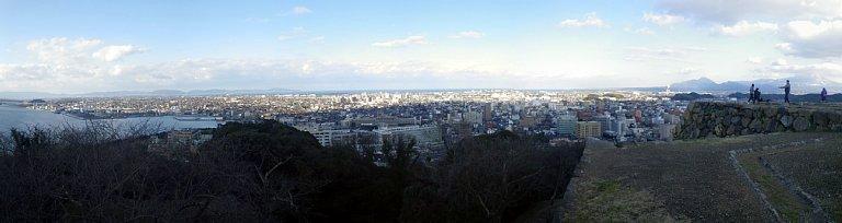 米子城 本丸パノラマ左半分
