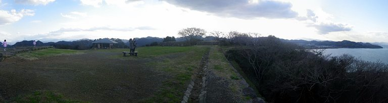 米子城 本丸パノラマ右半分