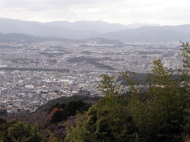 岩屋城 本丸から見た水城