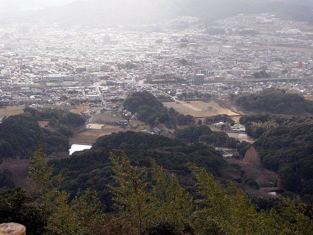 大野城 岩屋城から眺める大宰府政庁