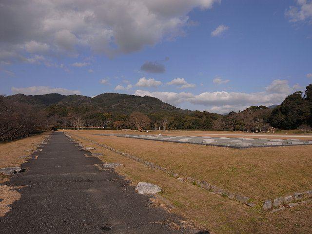 大宰府政庁から見た大野山