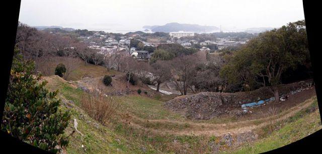 肥前名護屋城 本丸から加部島方向