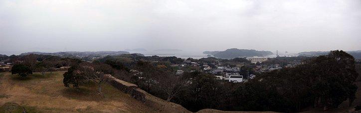 肥前名護屋城 天守台から加部島方向