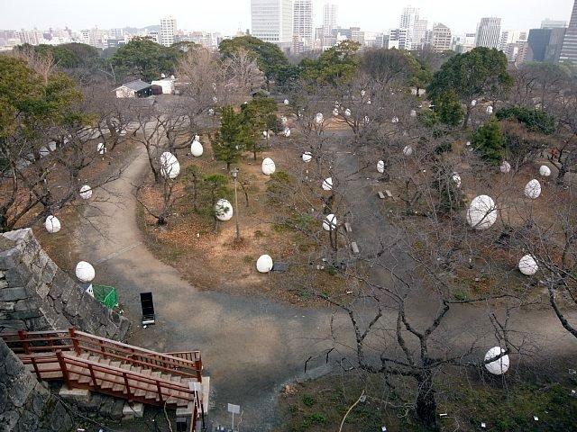福岡城 本丸ではライトアップイベント開催中