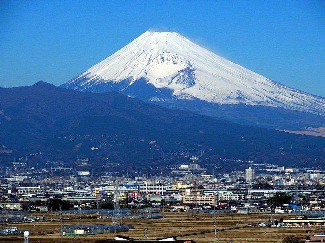 韮山城址 二の丸から眺める富士山