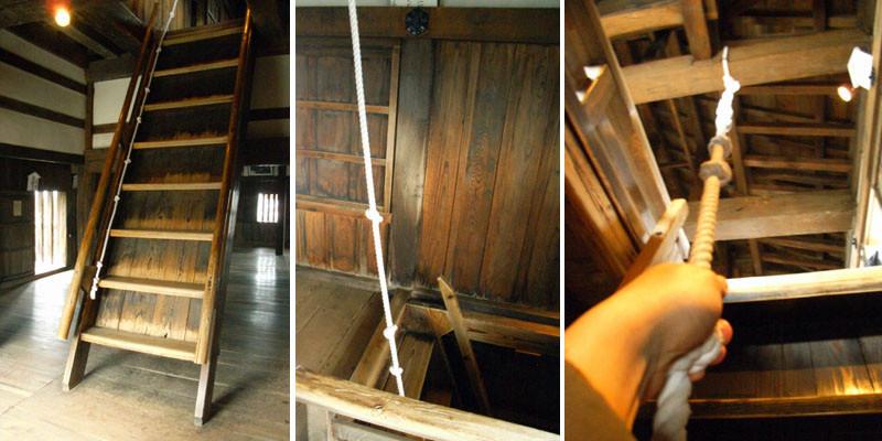 越前国 丸岡城 階段