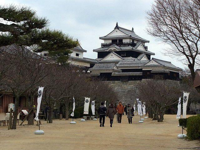 伊予松山城 本丸から天守を見る