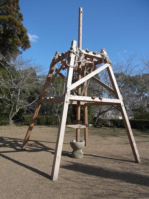 高鍋城 タコ(地面をつき固める道具)