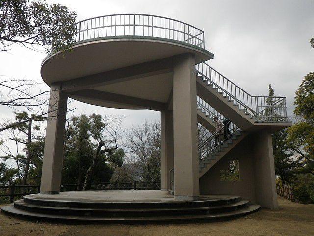 湯築城址(道後公園) 展望台 (愛媛県松山市)