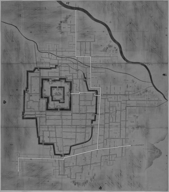 正保城絵図 本道可視化 山形