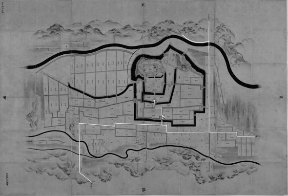 正保城絵図 本道可視化 白河