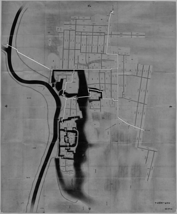 正保城絵図 本道可視化 古河
