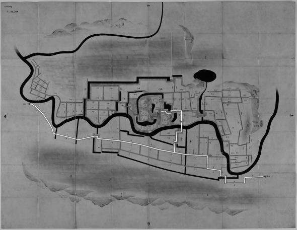 正保城絵図 本道可視化 掛川