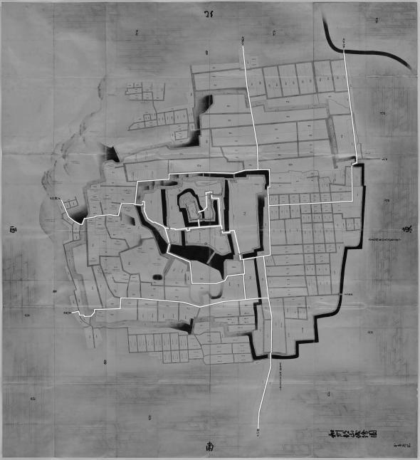 正保城絵図 本道可視化 大和郡山
