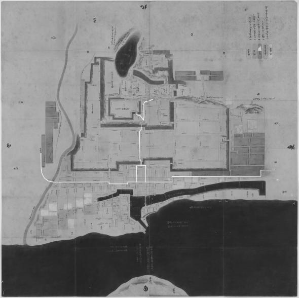 正保城絵図 本道可視化 明石