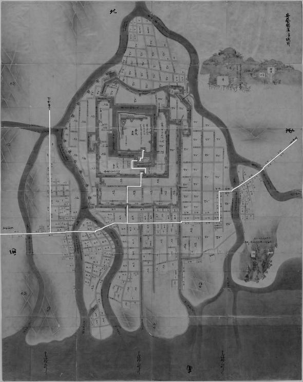 正保城絵図 本道可視化 広島
