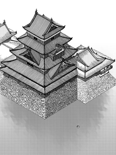 城之八 松本城(表紙)