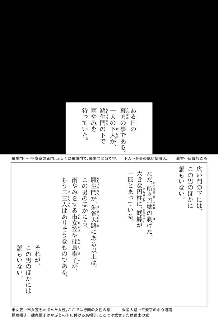 『羅生門』 芥川龍之介