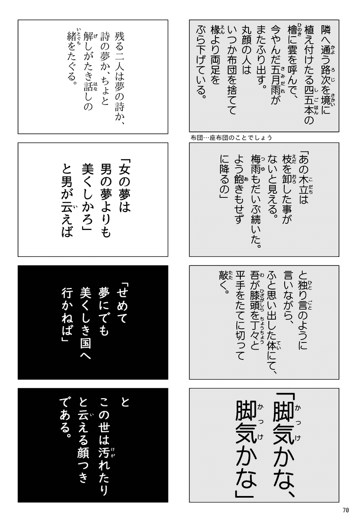 『一夜』 夏目漱石