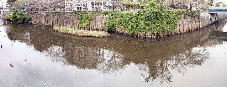 目黒川船入場調節池の対岸