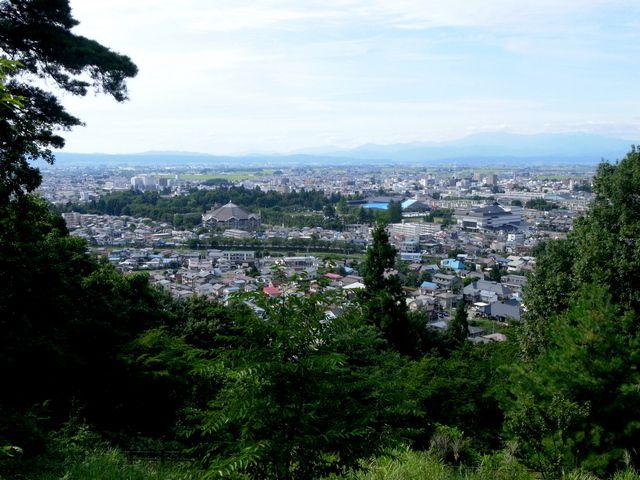 小田山新政府軍砲陣跡からの眺望